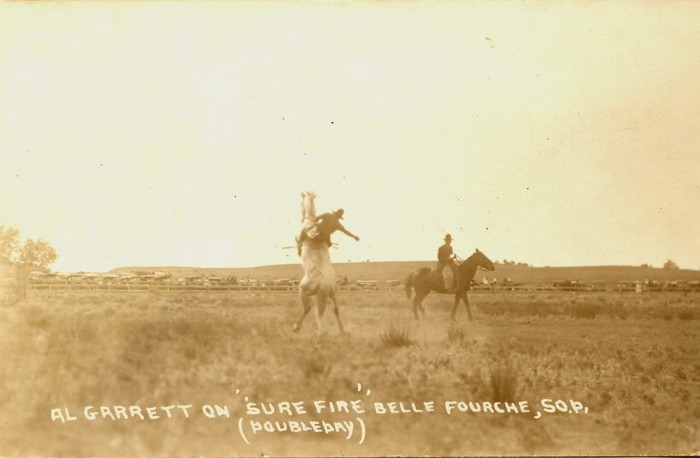 Al Garrett on Sure Fire, Belle Fourche, 1921