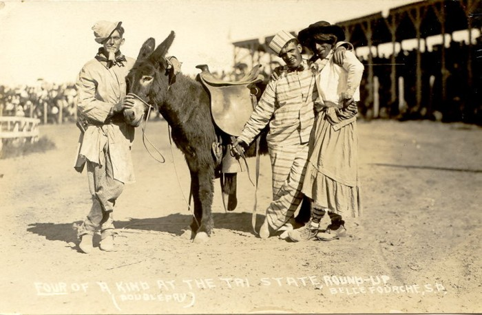 Four of a Kind at the Tri-State Round-Up, Belle Fourche, 1921