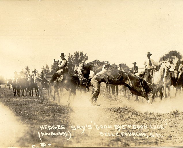 Hedges Says Good Bye Good Luck, Belle Fourche, 1921