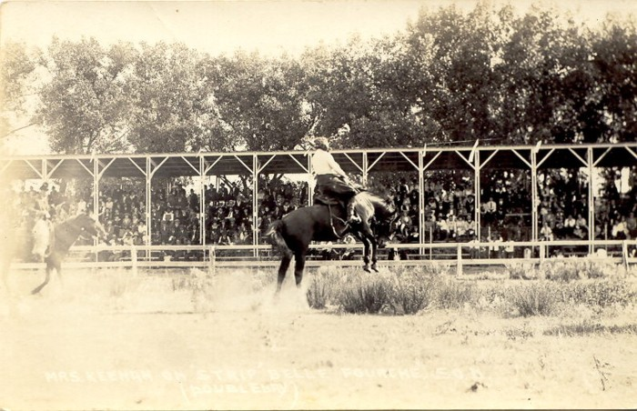 Mrs. Keenan on Strip, Belle Fourche, 1921