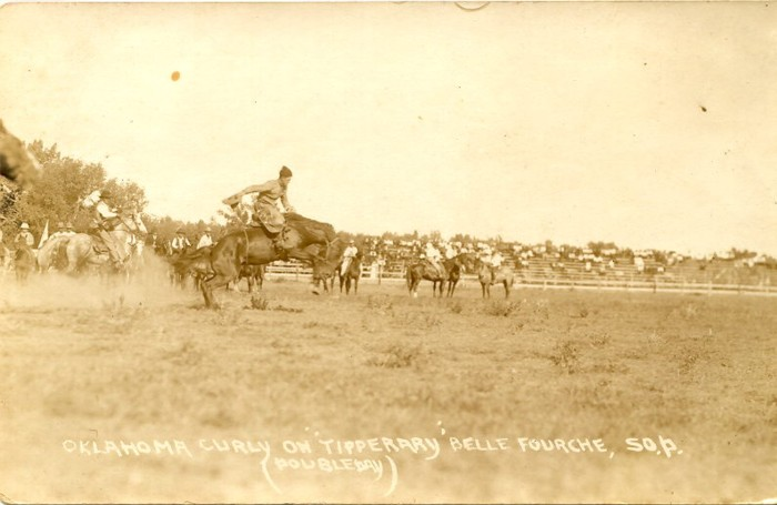 Oklahoma Curly on Tipperary, Belle Fourche, 1921